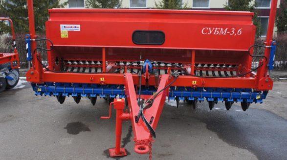 Сеялка зерновая субм-3,6 (СУБМ-3,6 с туком)