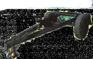 Шасси для тракторного прицепа 1 ПТС-2